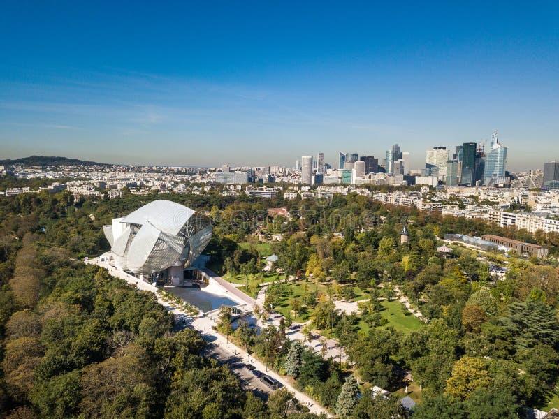 Louis Vuitton Foundation, París imagen de archivo libre de regalías