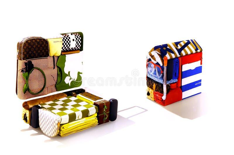 Louis Vuitton konsten av emballage royaltyfria bilder