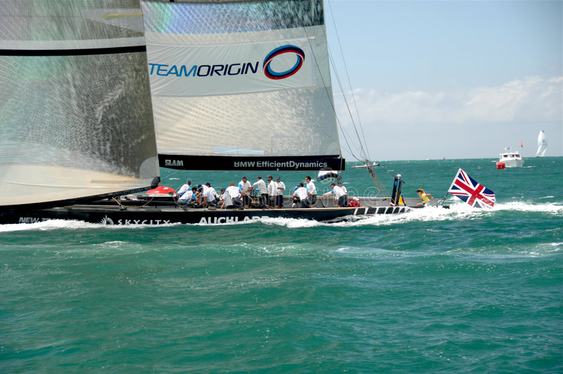 Louis Vuitton Match Racing Pacific Series 3 royalty free stock photography