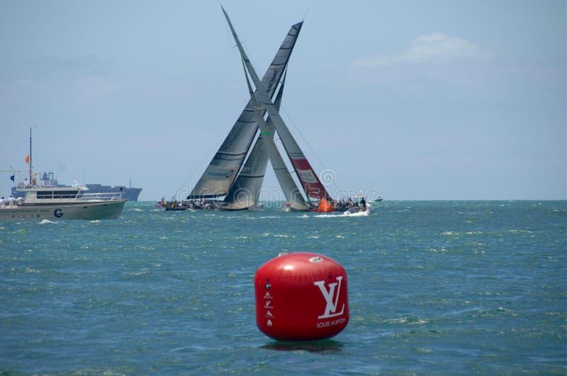 Louis Vuitton Match Racing Pacific Series 6 stock photos
