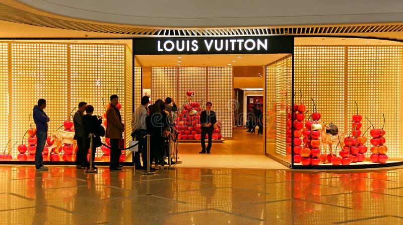 Louis vuitton mody butik fotografia stock