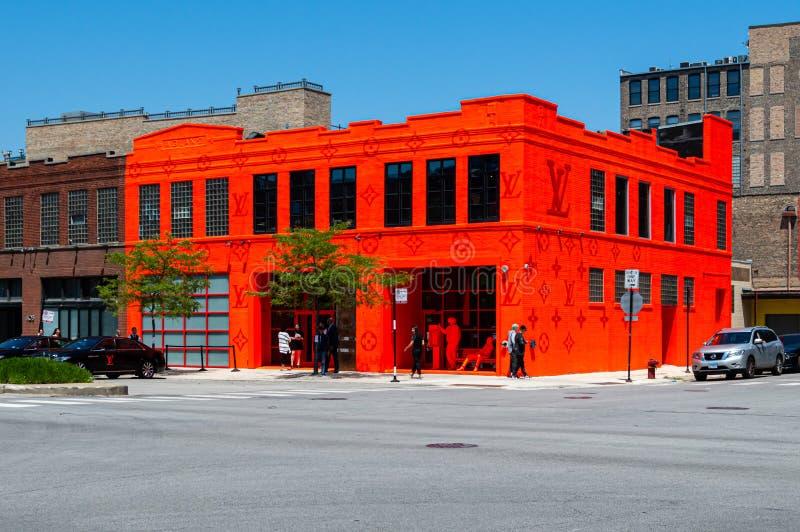 Louis Vuitton-pop-upitemdetailhandel in het Westenlijn Chicago royalty-vrije stock afbeelding