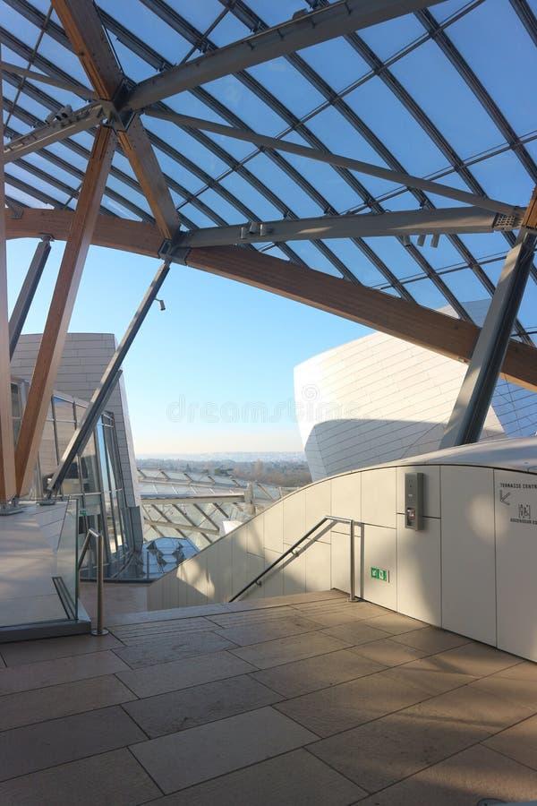 Louis Vuitton Rooftop Terrace - Parijs royalty-vrije stock afbeelding