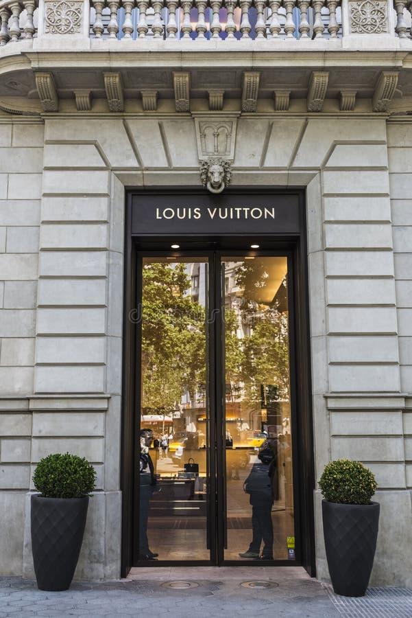 Louis Vuitton shoppar, Barcelona arkivbilder