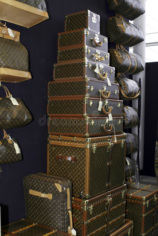 Louis Vuitton stand royalty free stock images