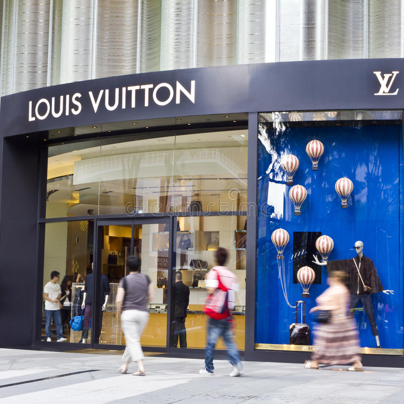 Louis Vuitton Store in ION Centre Blurred Shoppers