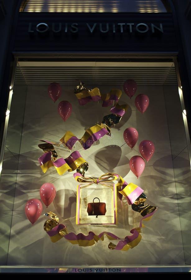 Louis Vuitton Window stockbilder