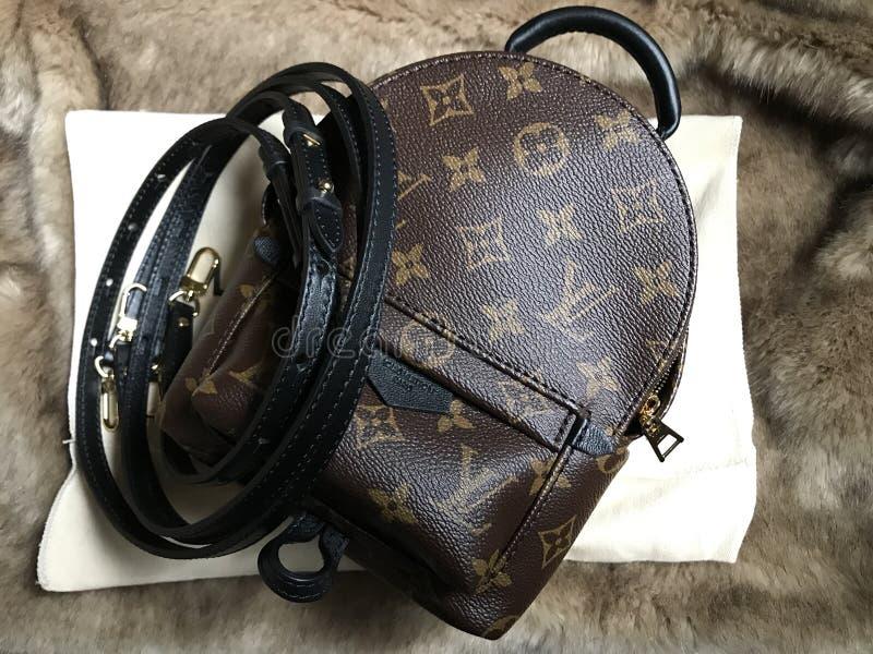 Louis Vuitton wiosny mini palmowa torba w monogramie fotografia stock