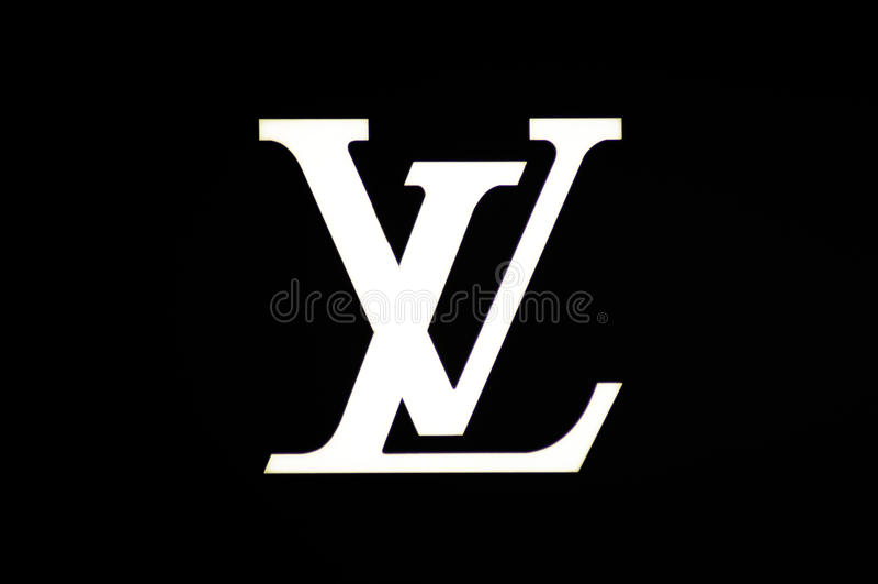 Louis Vuitton-Zeichen stockbild