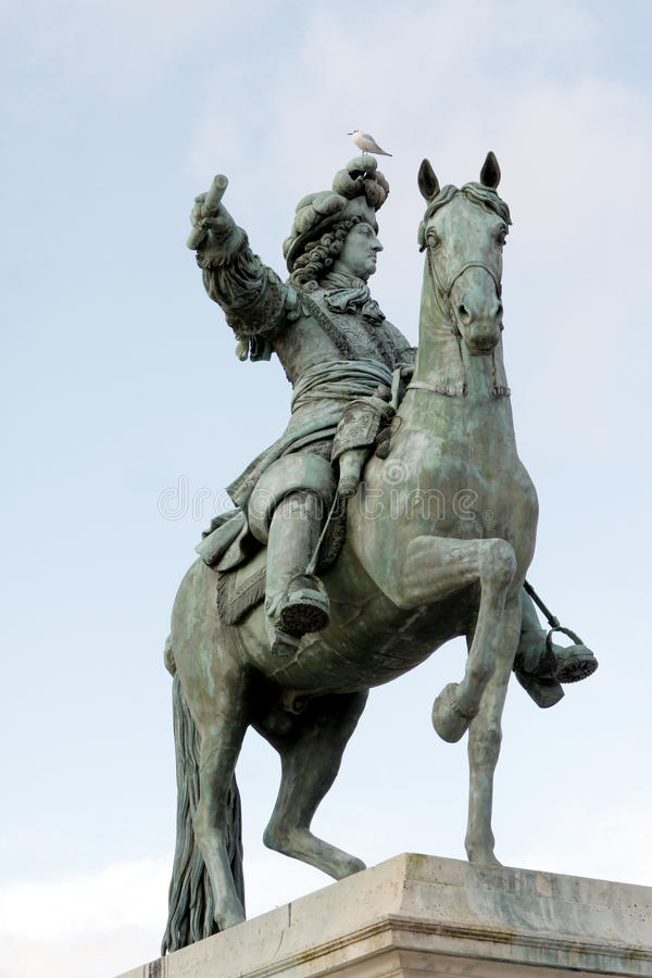 Louis XIV - Zonkoning royalty-vrije stock afbeelding