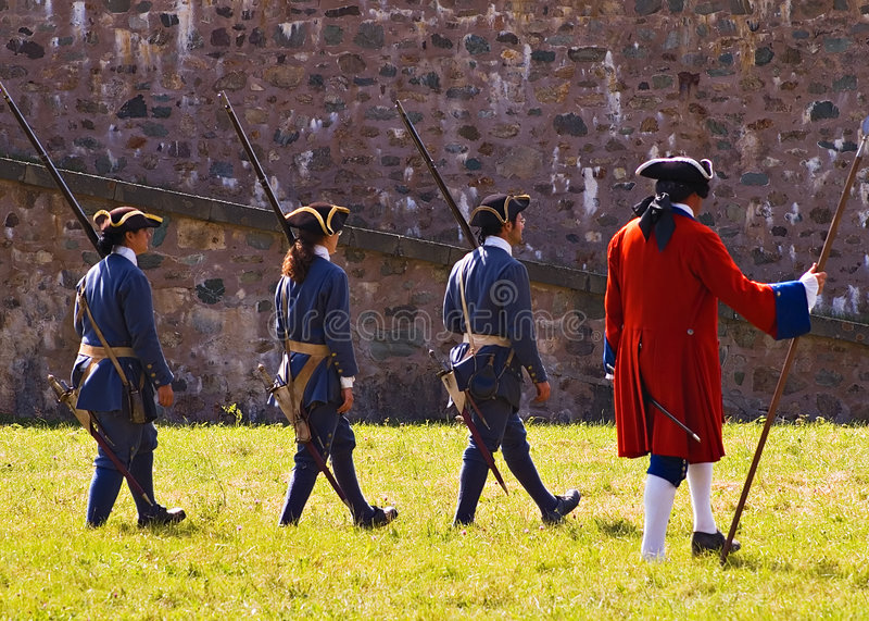 Louisbourg Soldaten lizenzfreie stockfotografie