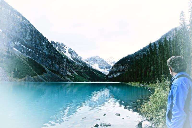 Louise, canada jeziora fotografia stock