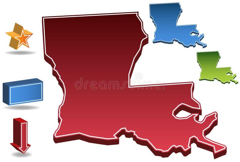 Louisiana 3D ilustração do vetor