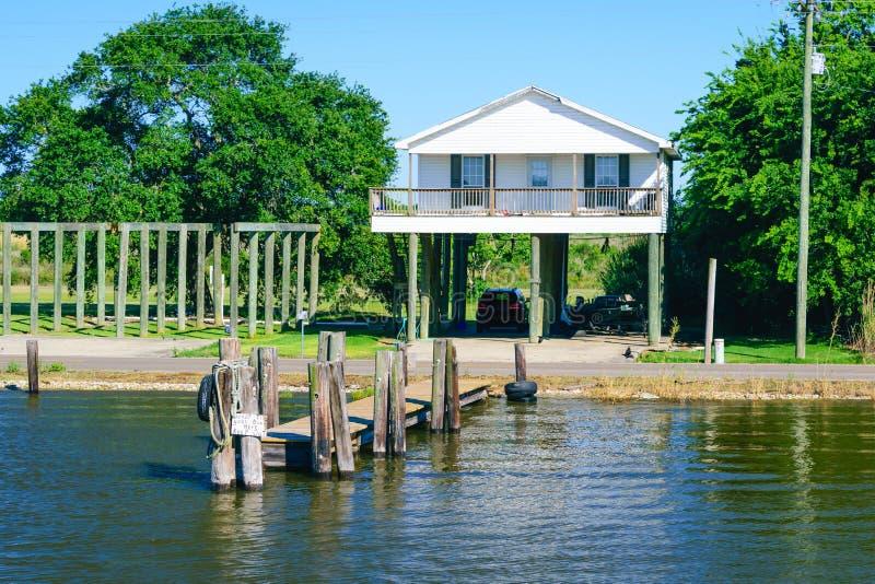 Louisiana-Bayou-Szene lizenzfreie stockfotografie