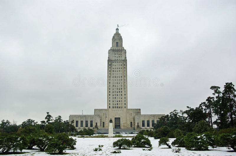 Download Louisiana Capitol in Snow editorial image. Image of occurrence - 7415025