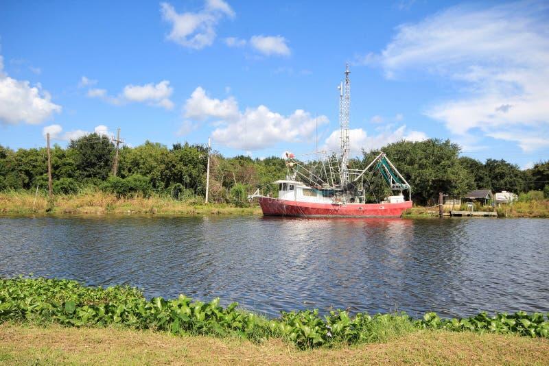 Louisiana-Garnelen-Boot lizenzfreie stockfotos
