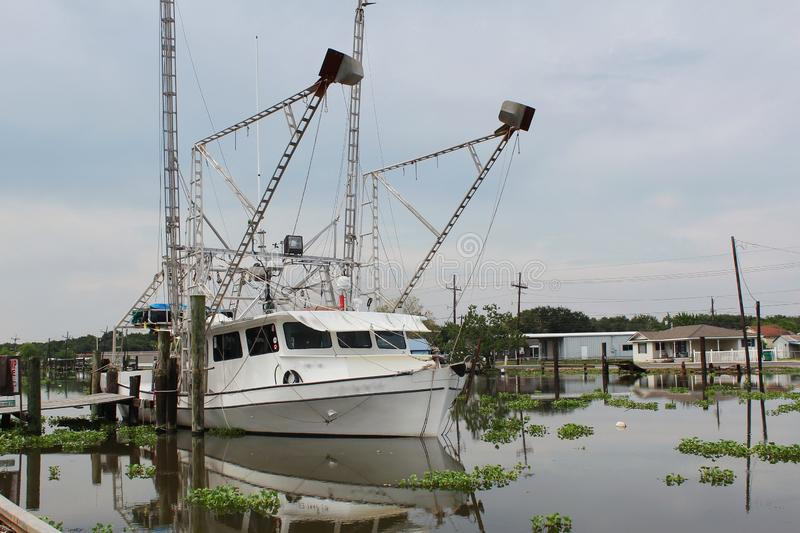 Louisiana-Garnelen-Boot stockbild