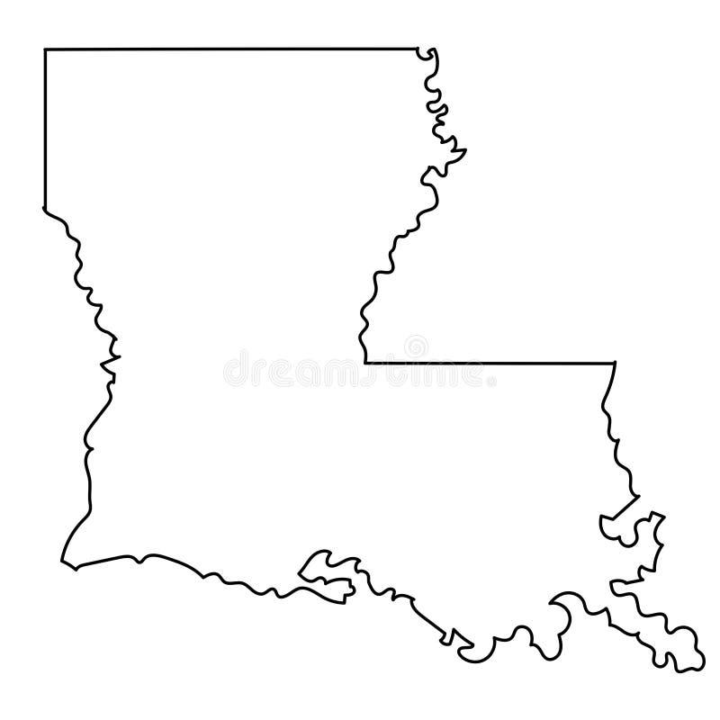 Louisiana Map Stock Illustrations – 2,074 Louisiana Map ...