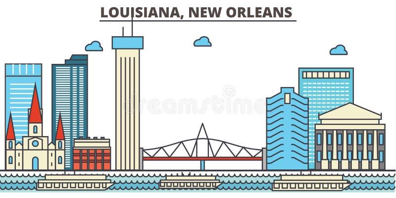 Louisiana, New Orleans Vektorhintergrund für Ihre Auslegung lizenzfreie abbildung