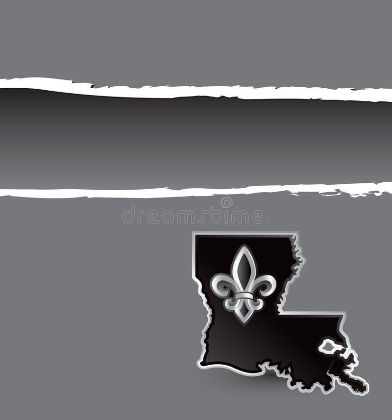 Louisiana rasgou a bandeira ilustração stock
