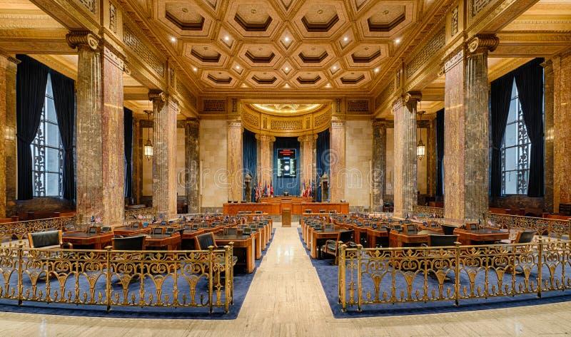Louisiana senatkammare royaltyfria foton