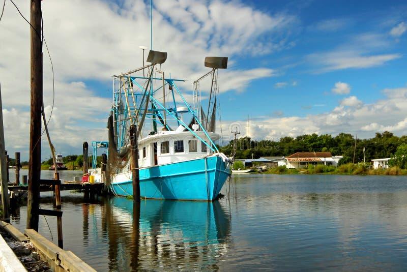 Louisiana Shrimp Boat. A shrimp boat at Golden Meadow, Louisiana on the Gulf Coast royalty free stock image