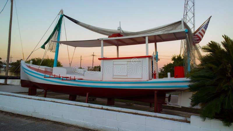 Louisiana Shrimp Boat. A historic shrimp boat on display at Golden Meadow, Louisiana on the Gulf Coast royalty free stock photography