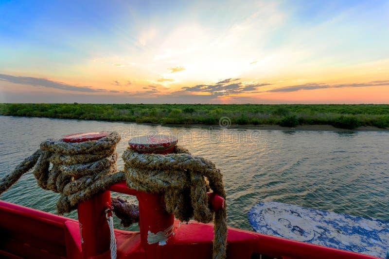 Louisiana solnedgång arkivbilder