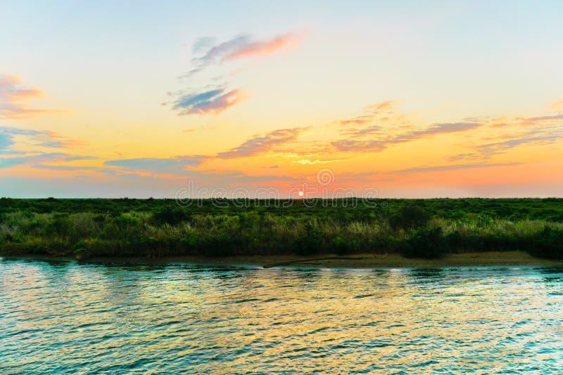 Louisiana solnedgång royaltyfri bild