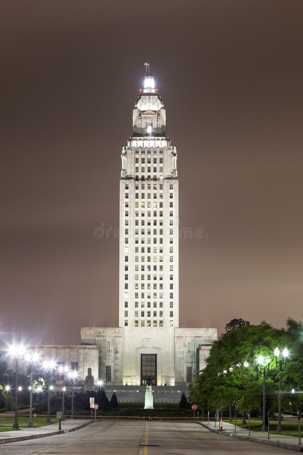 Louisiana statKapitolium i Baton Rouge fotografering för bildbyråer