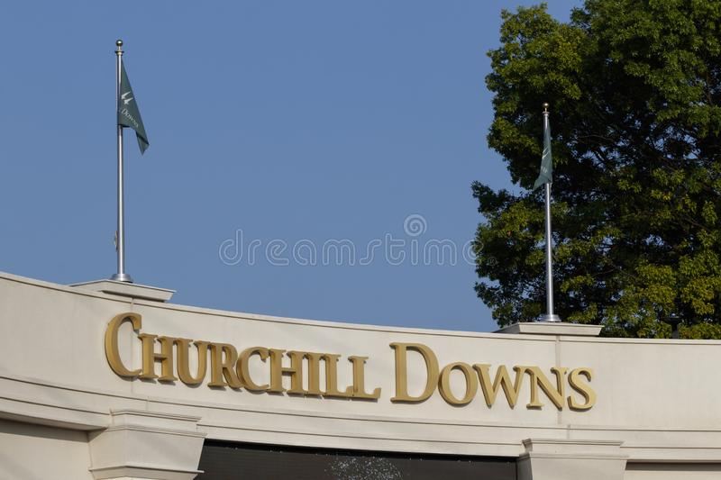 Churchill Downs, Home to the Kentucky Derby. The Kentucky Derby is one of the Crown Jewels of horse racing and professional sports. Louisville - Circa July 2019 stock photo