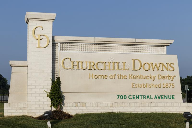 Churchill Downs, Home to the Kentucky Derby. The Kentucky Derby is one of the Crown Jewels of horse racing and professional sports. Louisville - Circa July 2019 royalty free stock photography