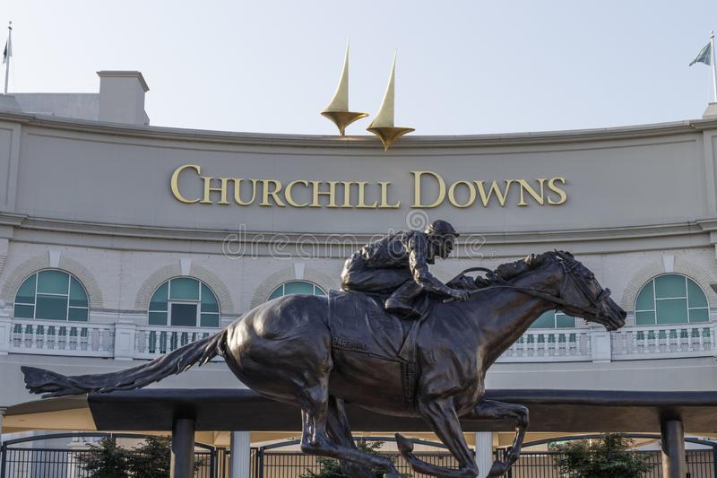 Churchill Downs, Home to the Kentucky Derby. The Kentucky Derby is one of the Crown Jewels of horse racing and professional sports. Louisville - Circa July 2019 stock image