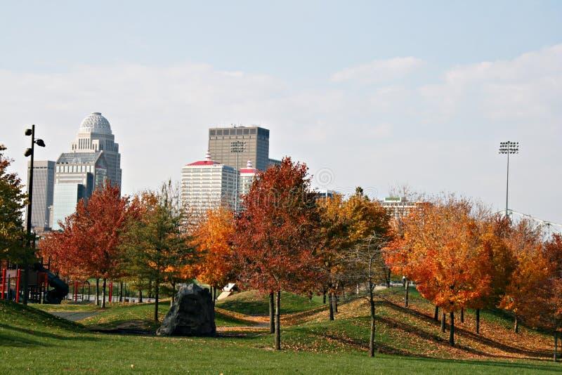 Louisville Kentucky en automne photo stock