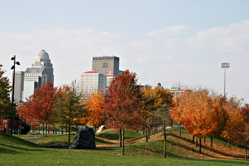 Louisville Kentucky in the fall stock photo