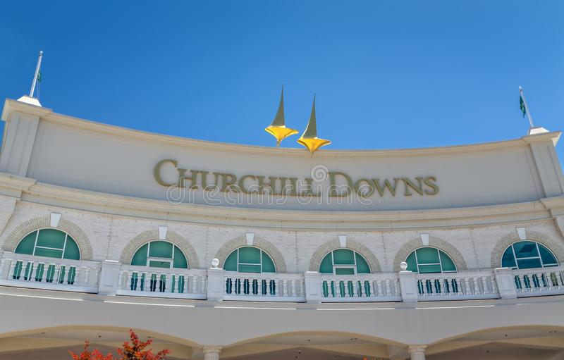 Church Hill Downs Entrance and Logo royalty free stock image