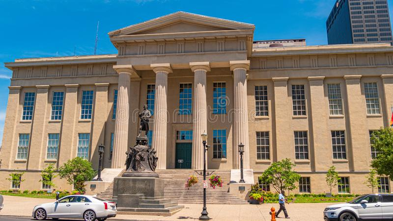 Louisville Metro Hall building - LOUISVILLE. USA - JUNE 14, 2019. Louisville Metro Hall building - LOUISVILLE. KENTUCKY - JUNE 14, 2019 royalty free stock photos