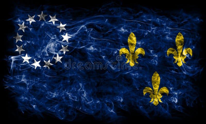 Louisville miasta dymu stara flaga, Kentucky stan, Stany Zjednoczone obrazy stock