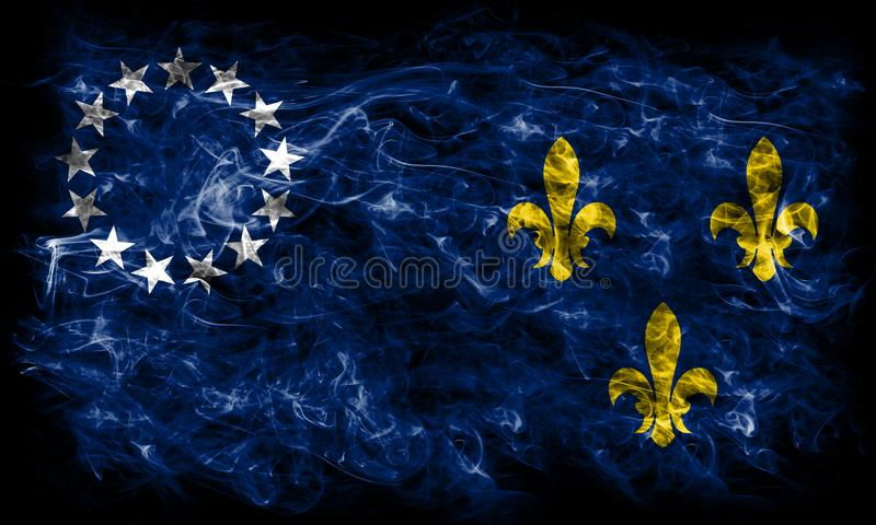Louisville old city smoke flag, Kentucky State, United States Of. America stock images