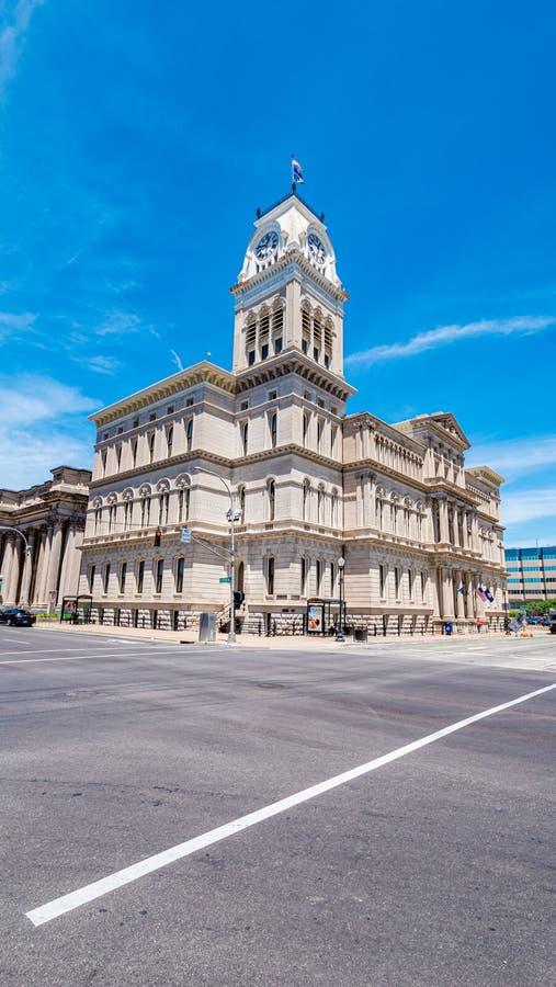 Louisville stad Hall Building - LOUISVILLE USA - JUNI 14, 2019 arkivfoto