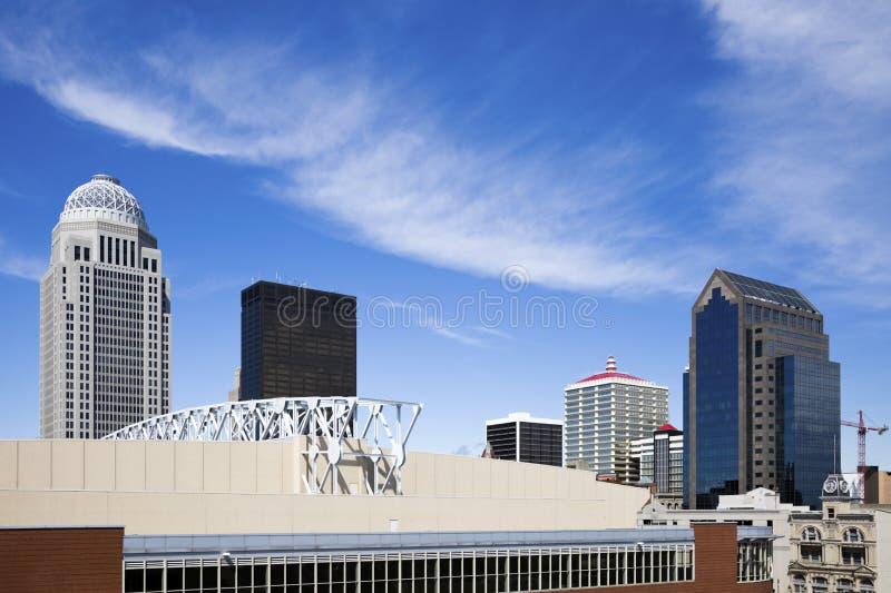 Louisville van de binnenstad royalty-vrije stock foto