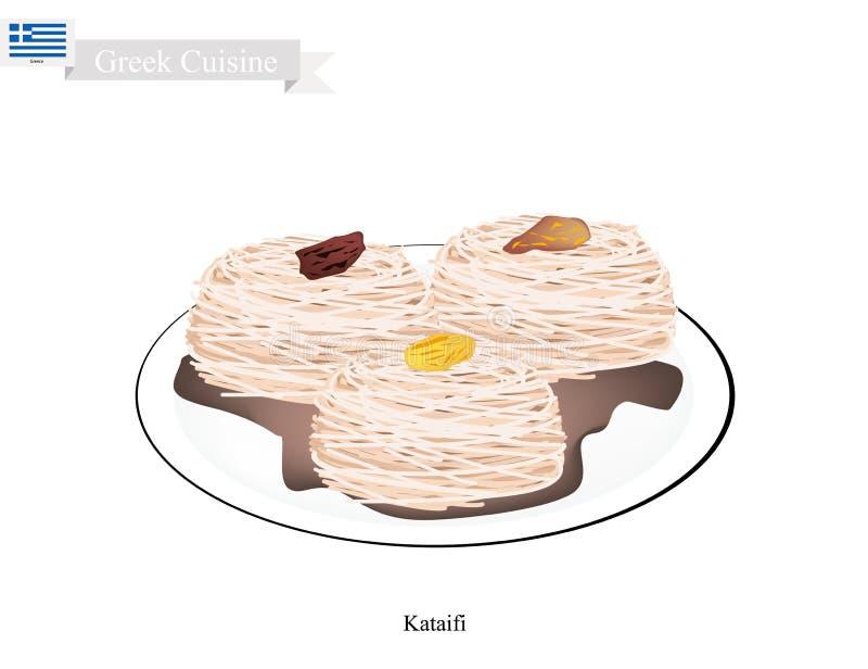 Loukoumades ή ελληνικές σφαίρες επιδορπίων με το γλυκό σιρόπι ελεύθερη απεικόνιση δικαιώματος