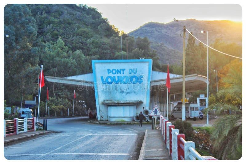 Loukous桥梁在摩洛哥北部 免版税图库摄影
