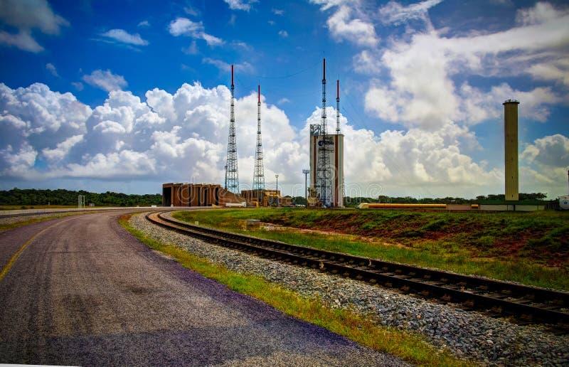Lounchers inom den Guyana utrymmemitten, Kourou, Franska Guyana arkivfoton