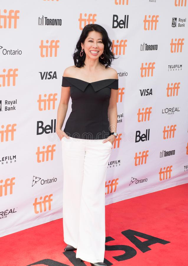 Activist Loung Ung at World Premiere of `First They Killed My Father`. Loung Ung attends the World Premiere of Netflix`s Film`s `First They Killed My Father` stock image