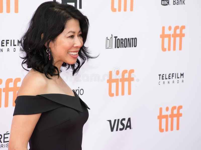 Loung Ungat at the world Premiere of `First They Killed My Father`. Loung Ungat at the world Premiere of `The Breadwinner` during the Toronto International Film royalty free stock image