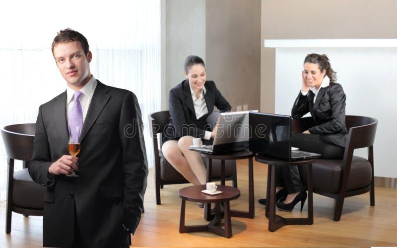 Download Lounge stock image. Image of team, break, woman, success - 14142623
