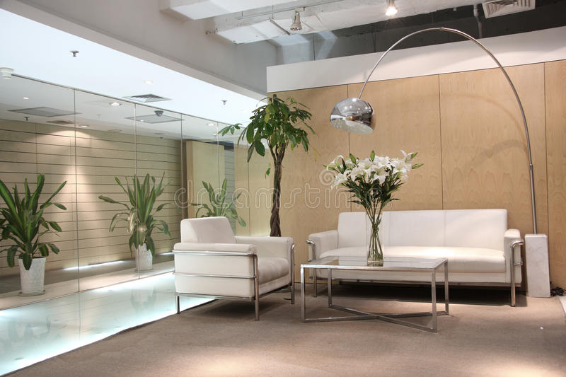 Lounge area stock photo. Image of design, flower, building - 11347612