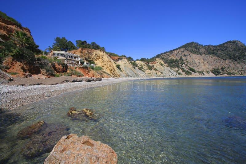 Lounge Bar Ibiza Beach Royalty Free Stock Images