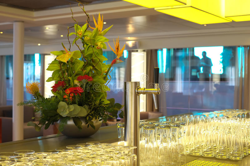 Download Lounge bar with tap stock image. Image of lounge, glasses - 25263785